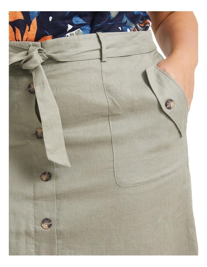 Josie Linen Tie Skirt image 3
