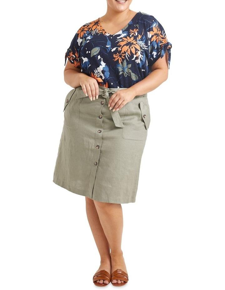 Josie Linen Tie Skirt image 4