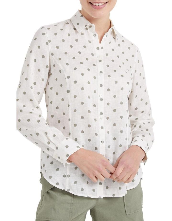 Daisy Spot Linen Shirt image 2