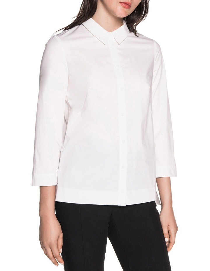 Stretch Cotton Stepped Hem Shirt image 1