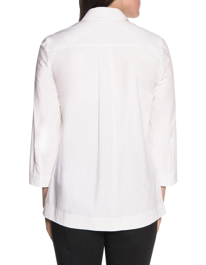 Stretch Cotton Stepped Hem Shirt image 2