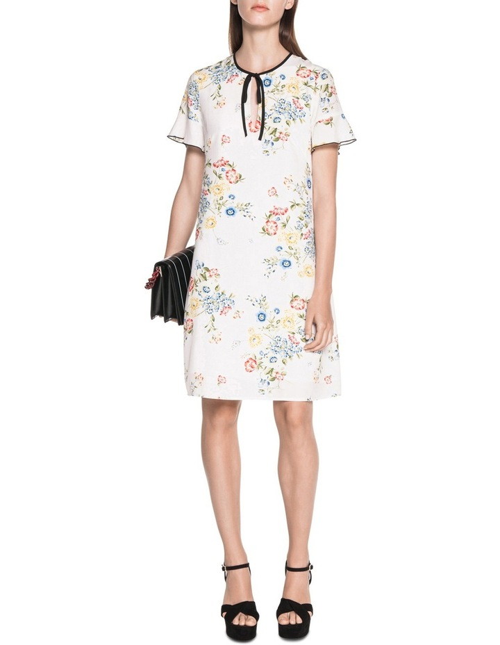 Posy Floral Tie Neck Dress image 1