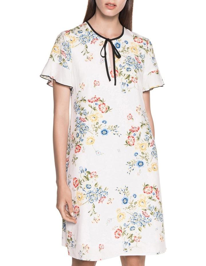 Posy Floral Tie Neck Dress image 2