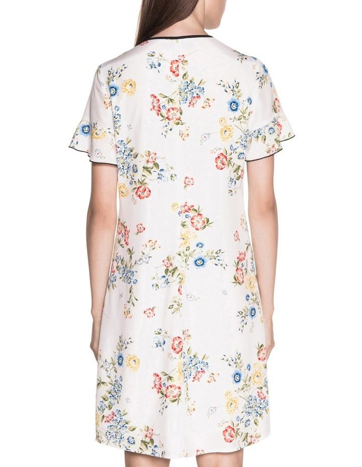 Posy Floral Tie Neck Dress image 3