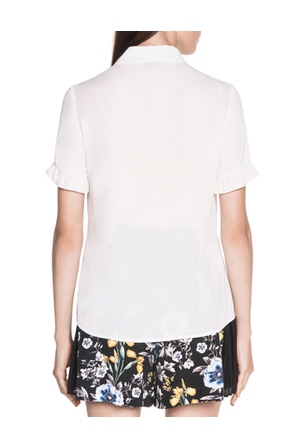 Cue - Georgette Frill Sleeve Shirt