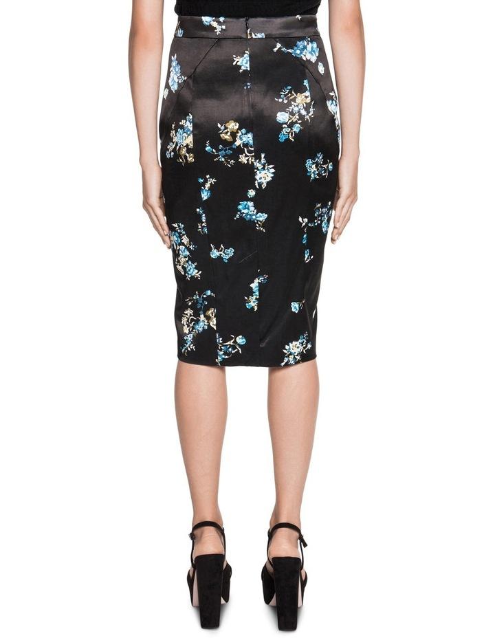 Satin Floral Pencil Skirt image 2
