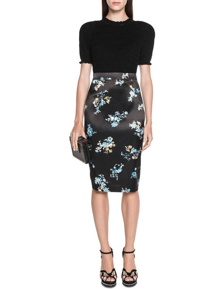 Satin Floral Pencil Skirt image 3