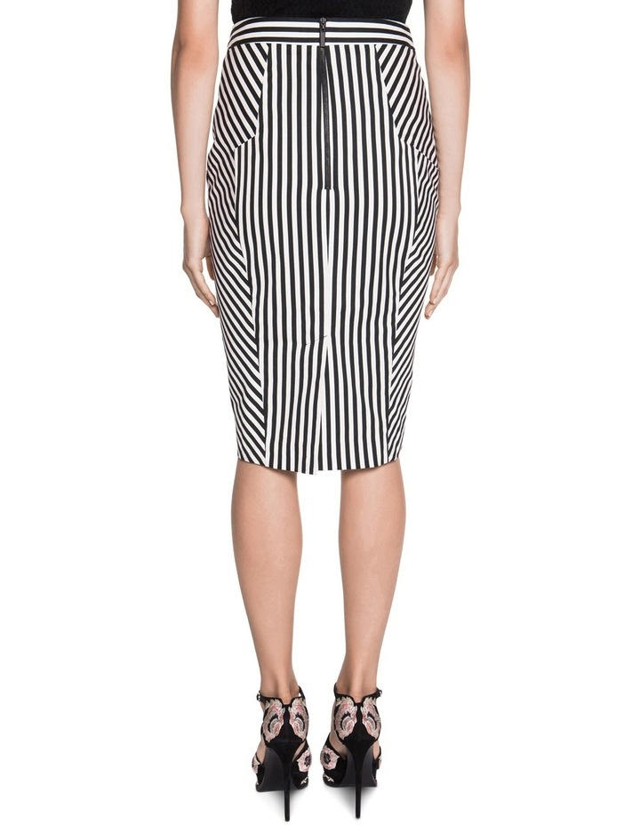 Stripe Cotton Twill Pencil Skirt image 2