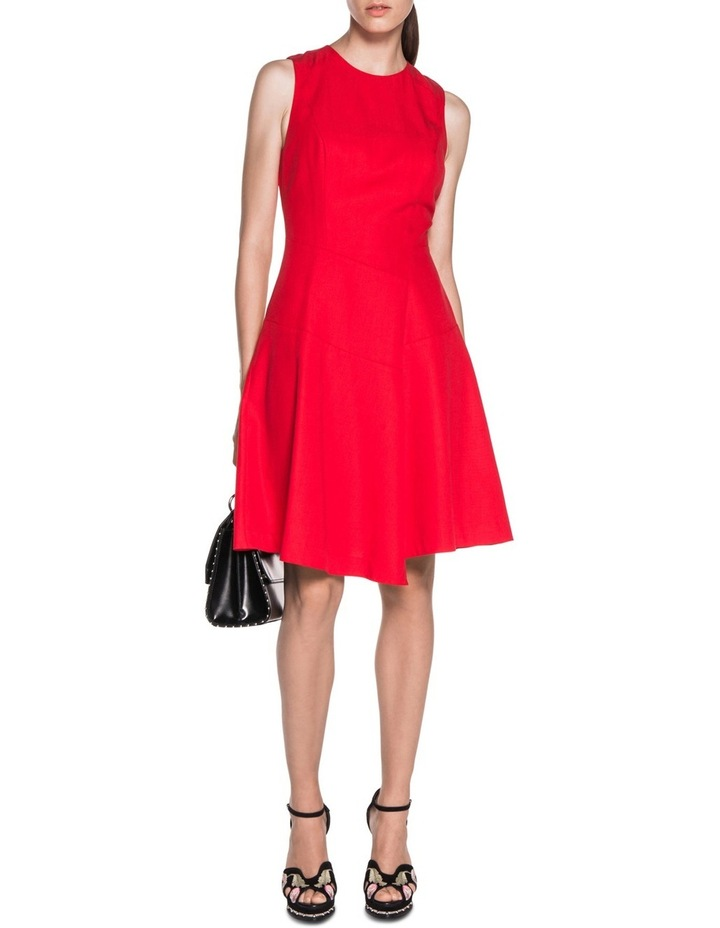 Asymmetric Fluted Panelled Dress image 1