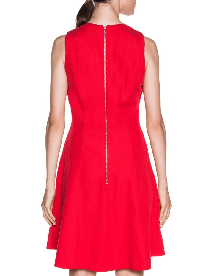 Asymmetric Fluted Panelled Dress image 3