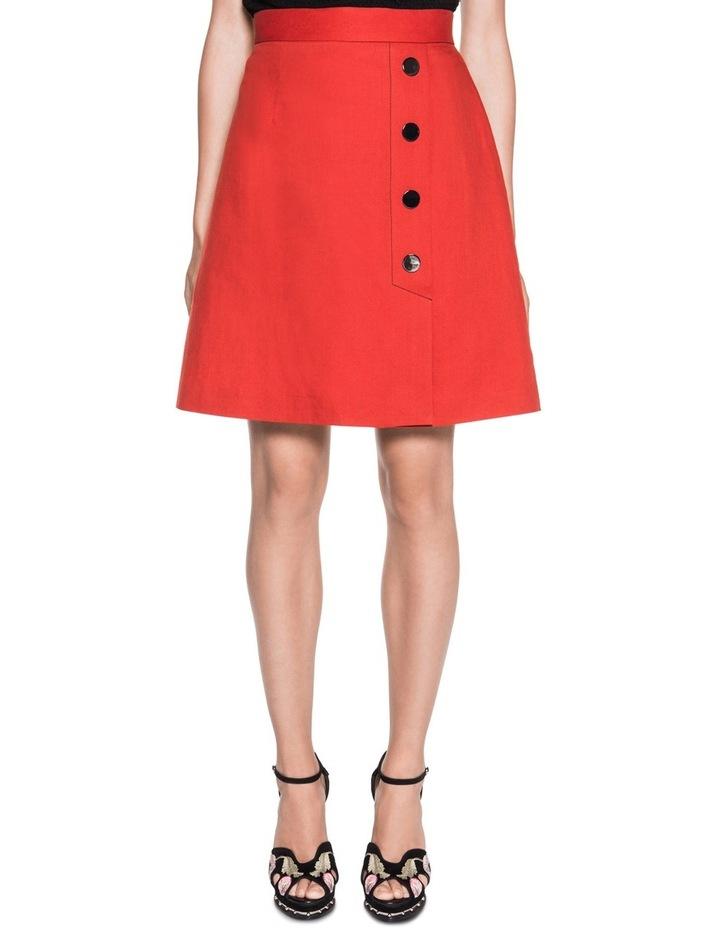 Asymmetric Meatl Snap Front Skirt image 1