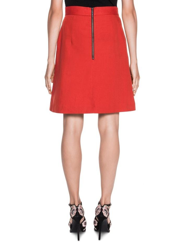 Asymmetric Meatl Snap Front Skirt image 2