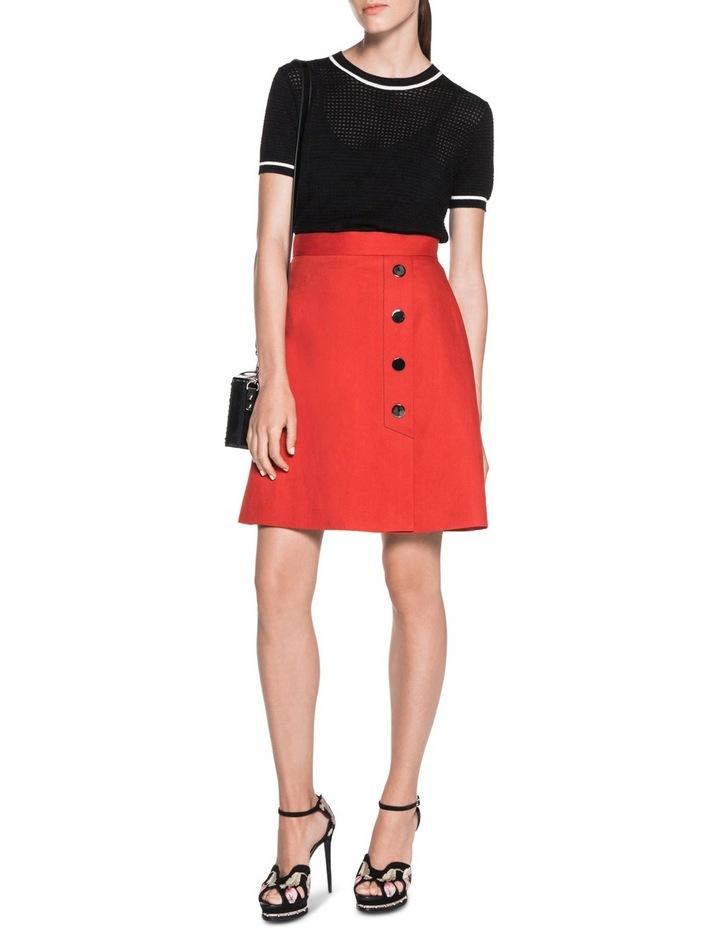 Asymmetric Meatl Snap Front Skirt image 3