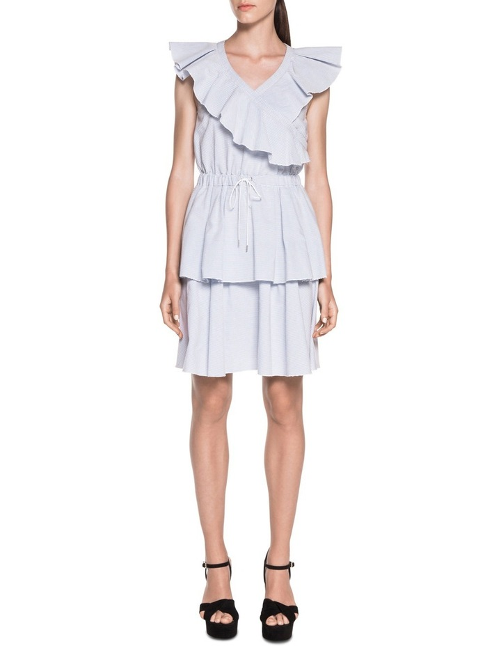 Cotton Stripe Frill Dress image 1