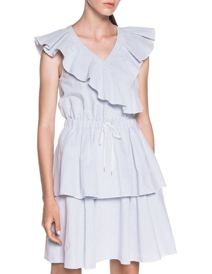 Cotton Stripe Frill Dress image 2