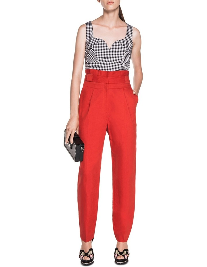 Linen Waisted Pant image 3