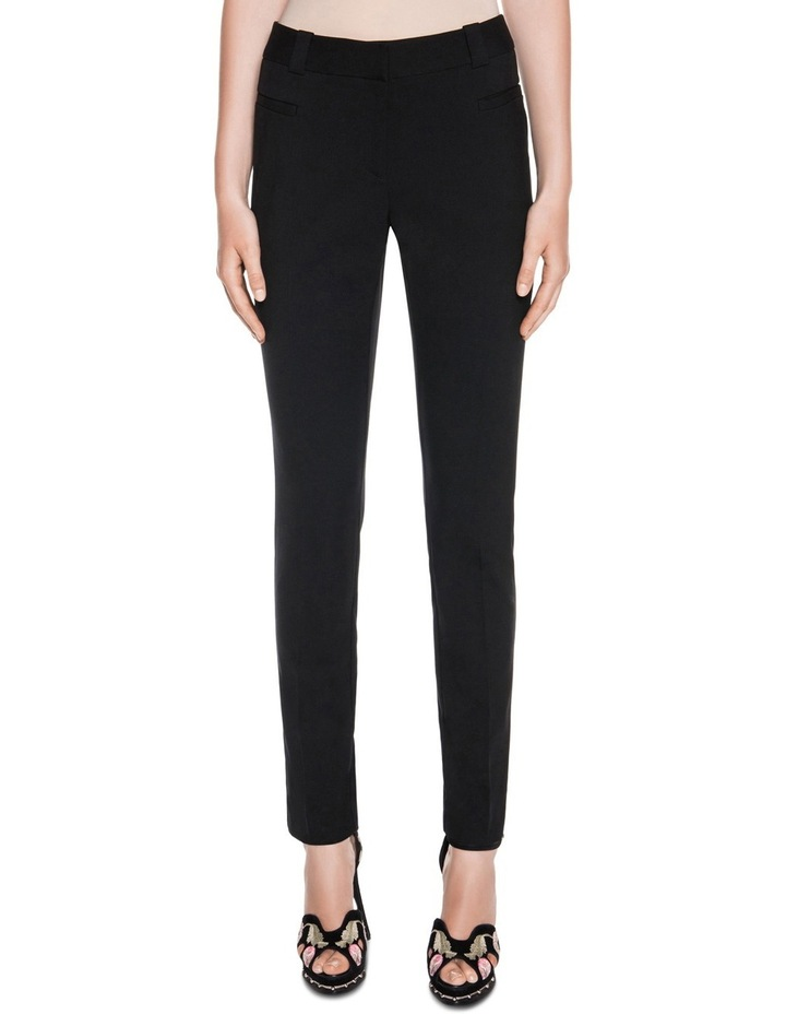 Black Welt Pocket Slim Leg Pant image 1