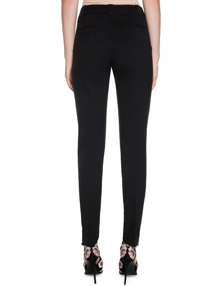 Black Welt Pocket Slim Leg Pant image 2
