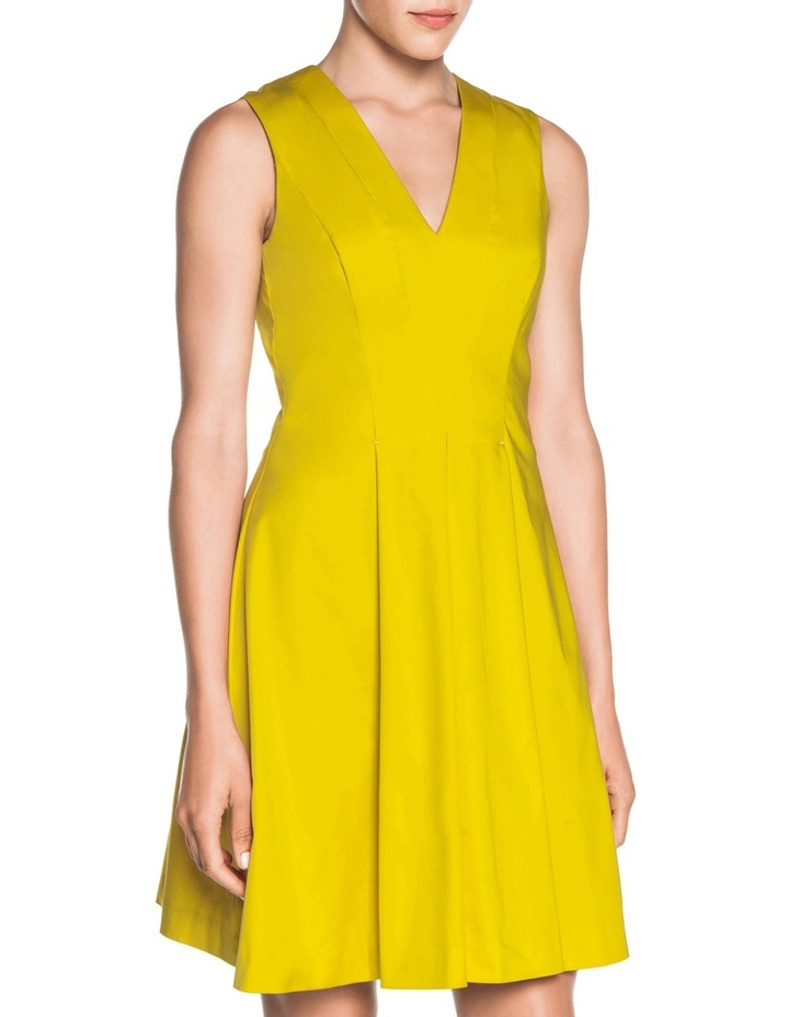 V Neck Sateen Dress image 1