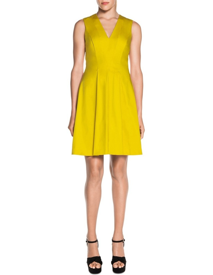 V Neck Sateen Dress image 2