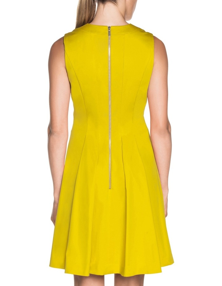 V Neck Sateen Dress image 3