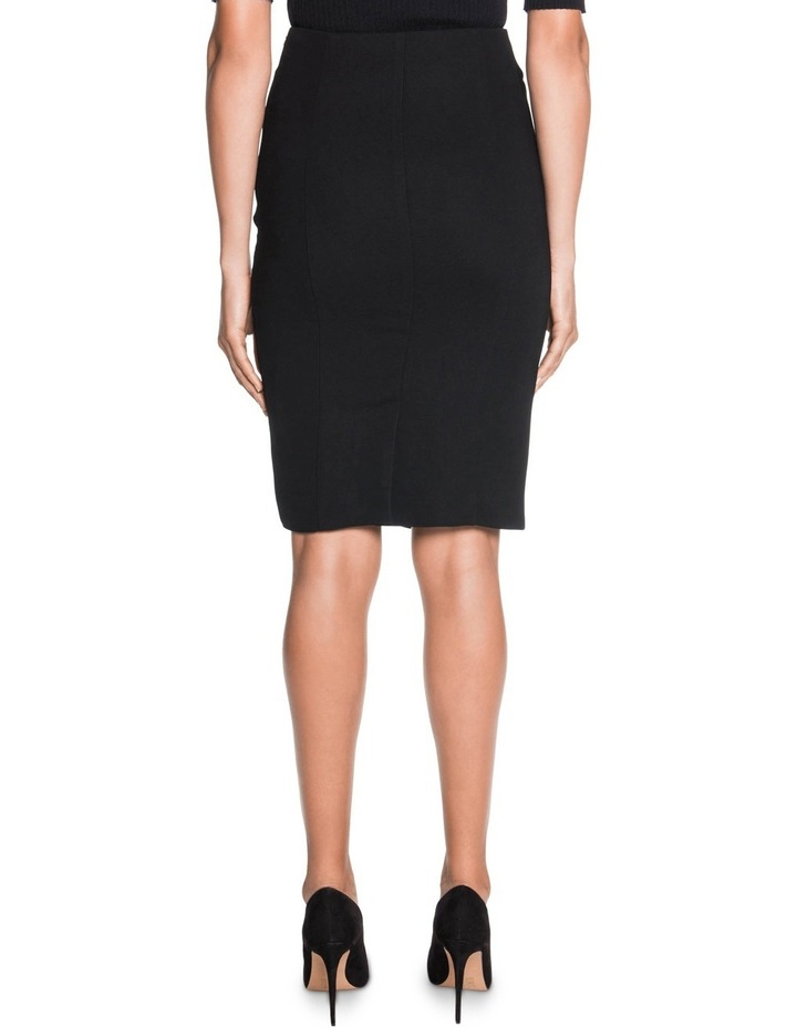 Crepe Gathered Zip Front Skirt image 2