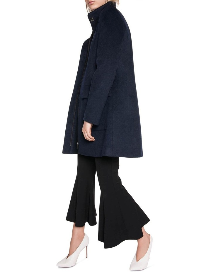Brushed Wool Zip Front Coat image 1