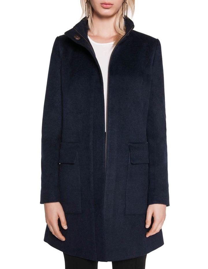 Brushed Wool Zip Front Coat image 2