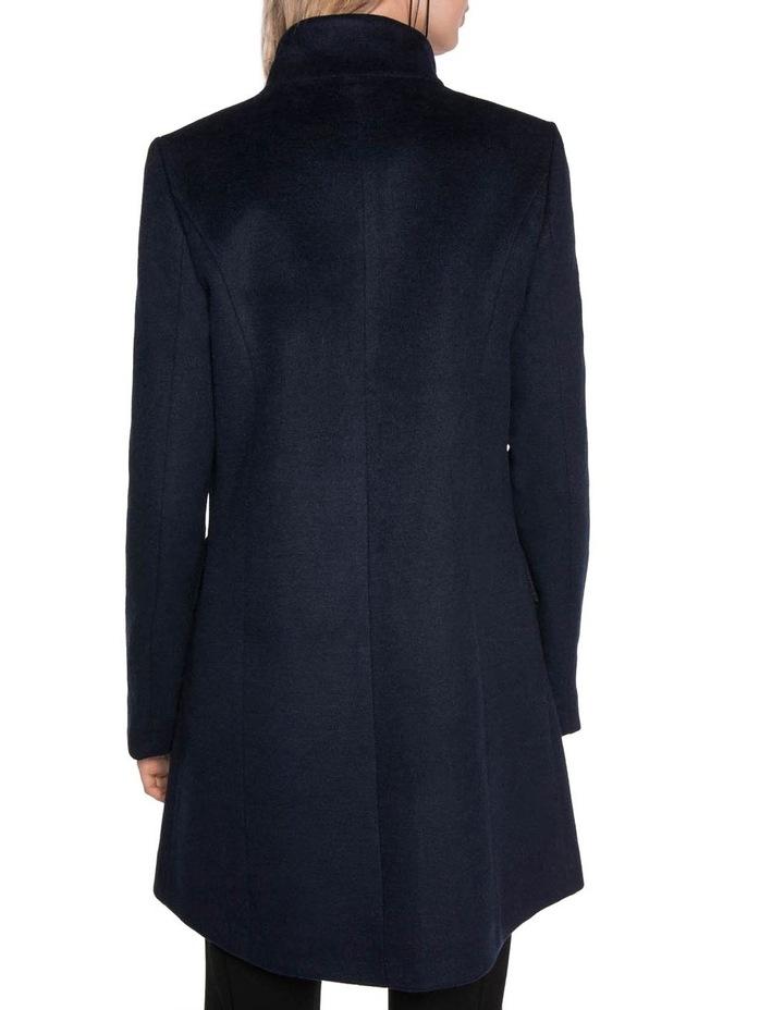 Brushed Wool Zip Front Coat image 3