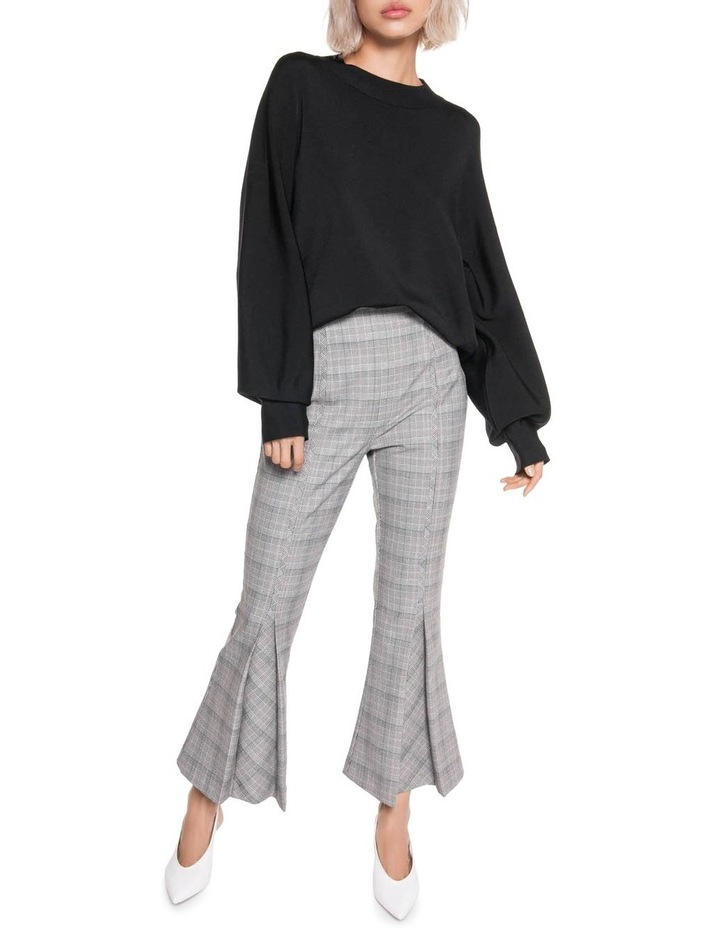 Check Cropped Flared Pants image 1
