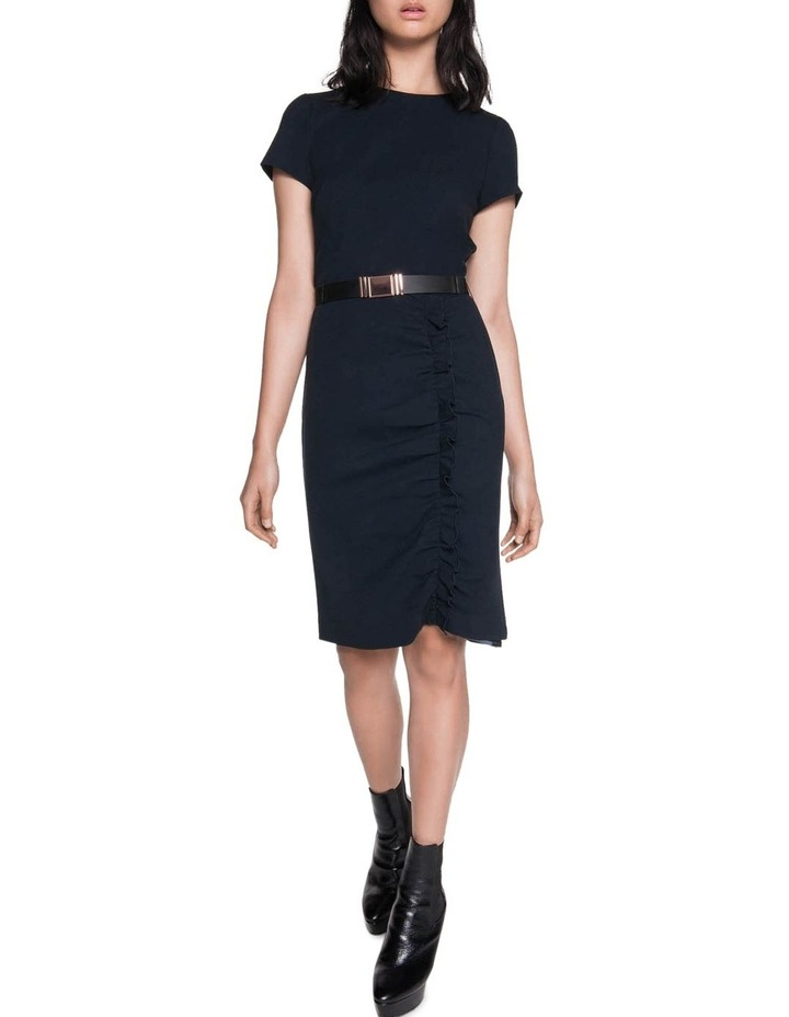 Crepe Belted Ruched Dress image 1