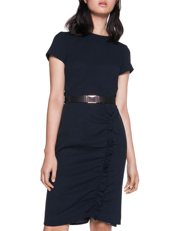 Crepe Belted Ruched Dress image 2