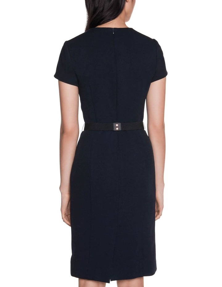 Crepe Belted Ruched Dress image 3