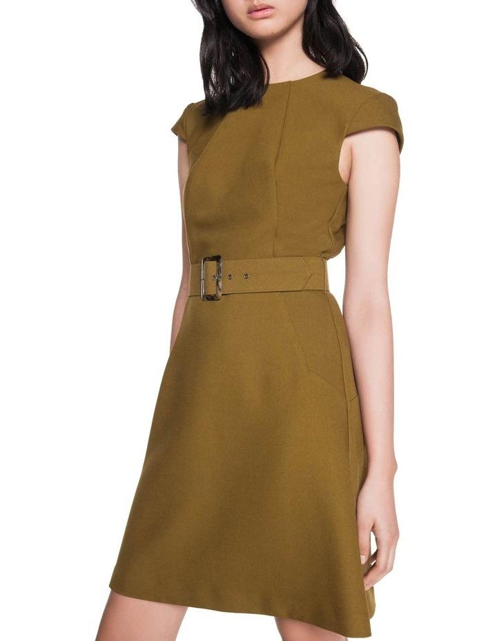 Khaki Belted Shift Dress image 2