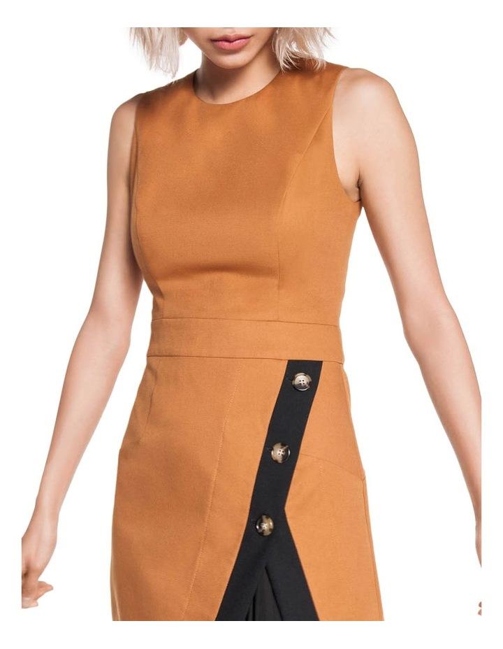 Asymmetric Contrast Pleated Dress image 2