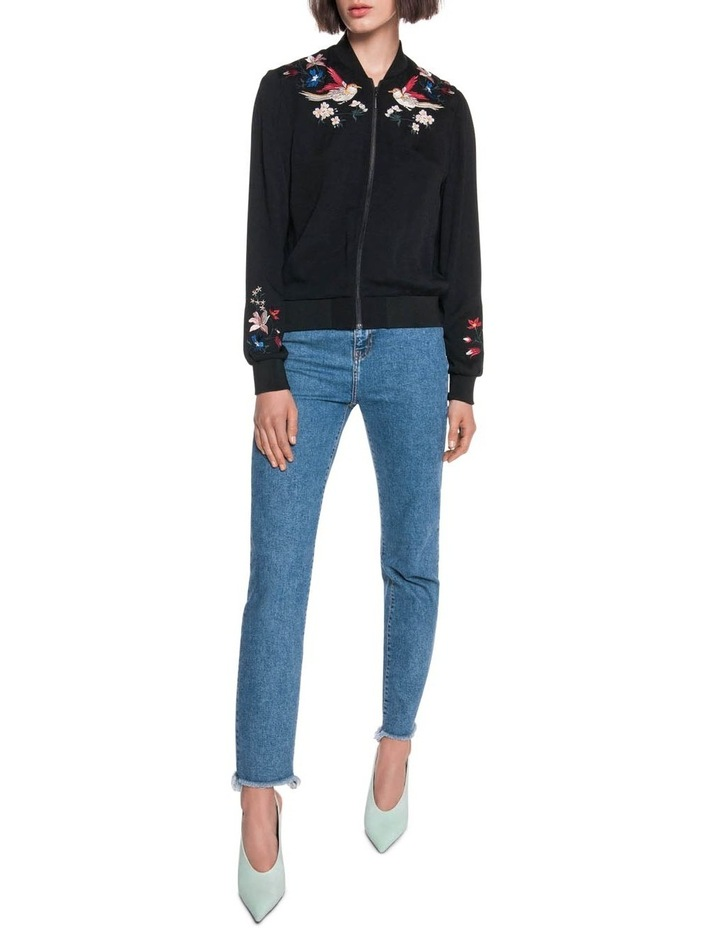 Crepe Embroidered Bomber image 1