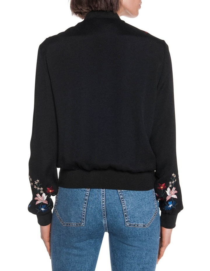 Crepe Embroidered Bomber image 3