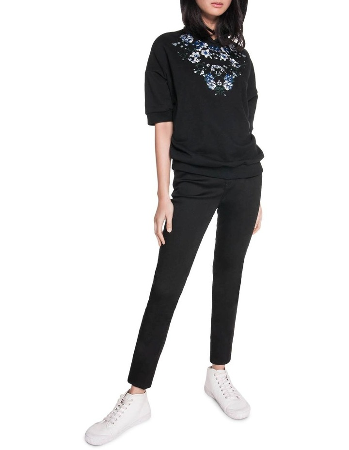 Embroidered Floral Sweatshirt image 1