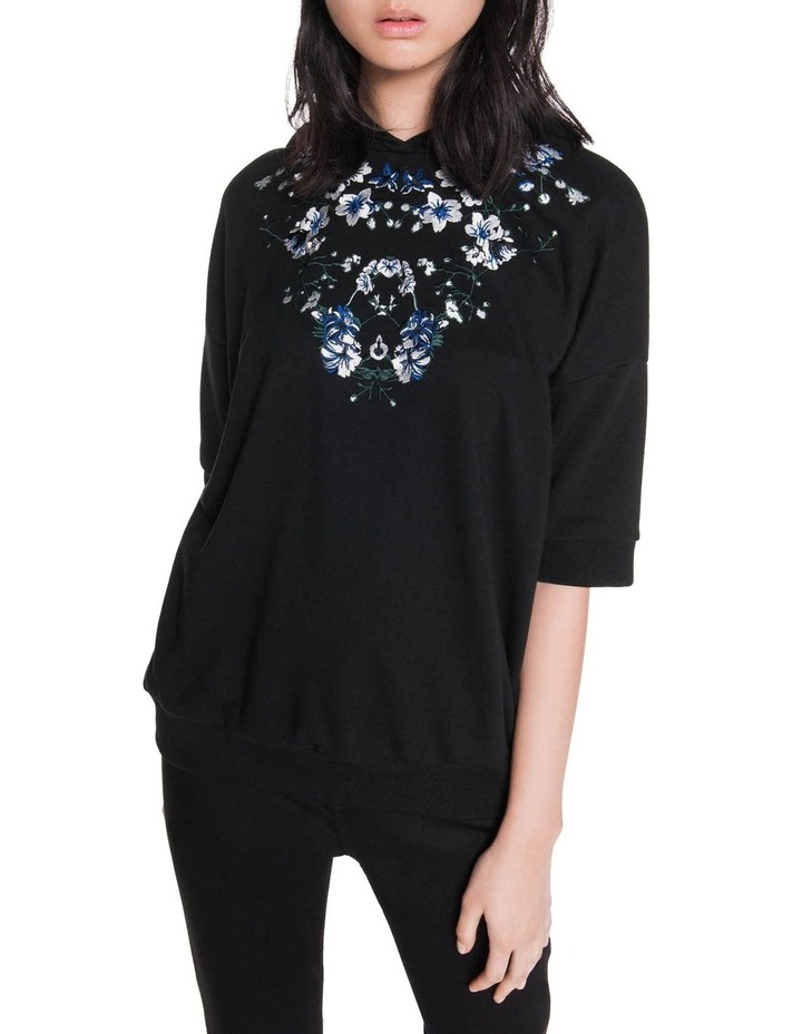 Embroidered Floral Sweatshirt image 2