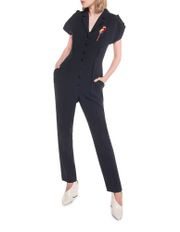 Crepe Embroidered Parrot Jumpsuit