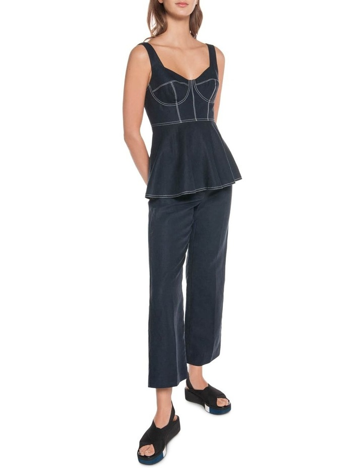 Linen Cropped Pant image 1