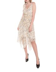 Abstract Animal Georgette Dress