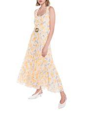 Golden Fan Midi Dress
