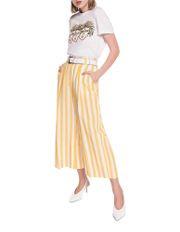 Linen Stripe Wide Leg Pant