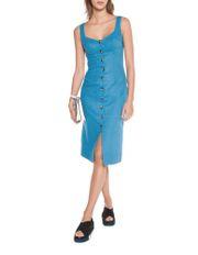 Linen Twill Button Front Dress