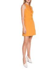 Asymmetric Neckline Fitted Dress