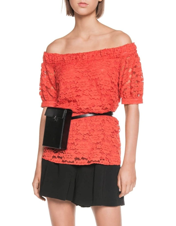 Cotton Lace Off the Shoulder Top image 1