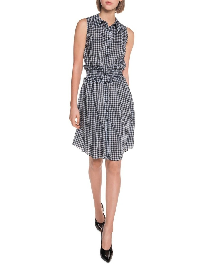 Gingham Voile Shirt Dress image 1