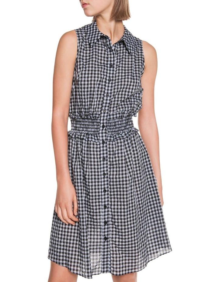 Gingham Voile Shirt Dress image 2