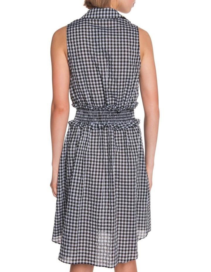 Gingham Voile Shirt Dress image 3
